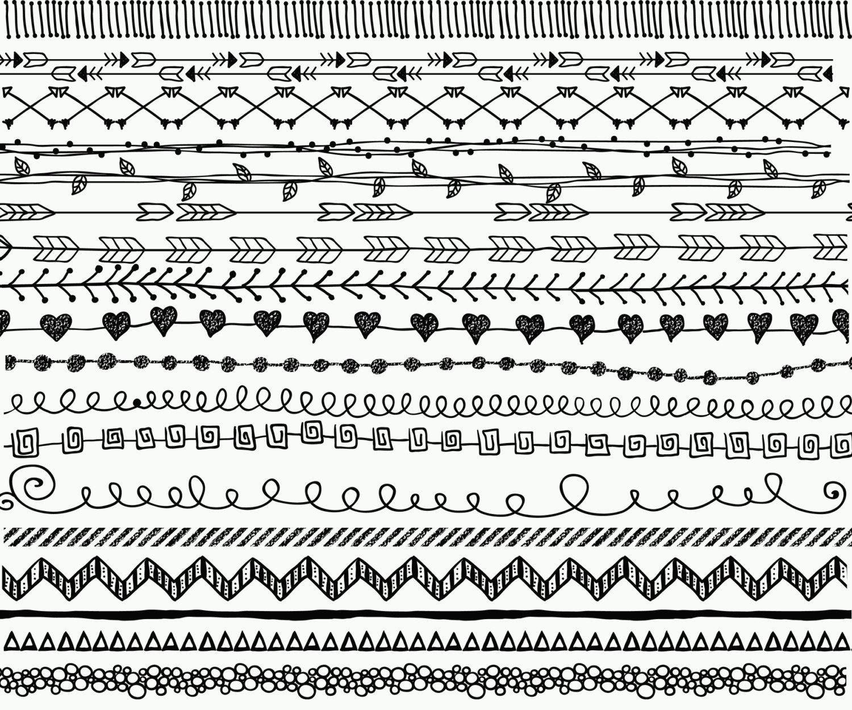 Line clipart doodle Digital Hand CLIP file clipart: