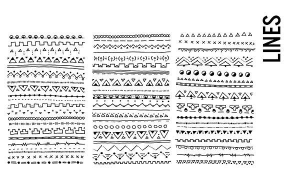 Lines clipart doodle Library Line Clip Art Border