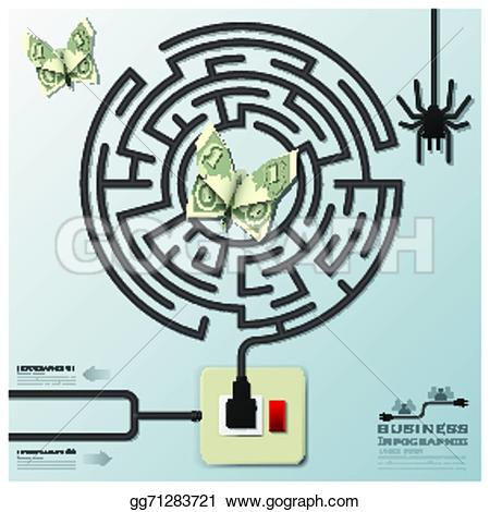 Lines clipart electric wire  spider template money with