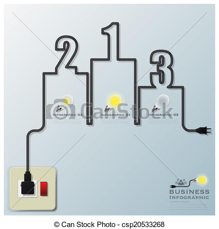 Lines clipart electric wire Line Line csp20533268 Infographic Electric