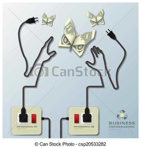 Lines clipart electric wire Business Template Vector Line Design