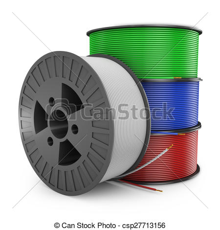 Wire clipart colored With Stock four coil of