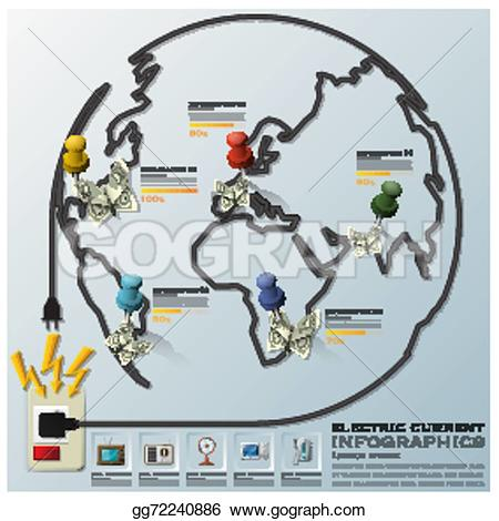 Lines clipart electric wire Earth equipment current Illustration earth
