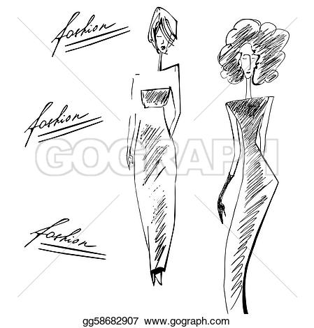 Line clipart elegant Elegant silhouette Illustration Clipart silhouette