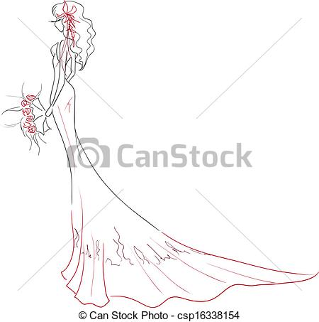 Lines clipart elegant With bouquet of Clipart Vector