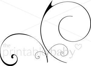 Line clipart elegant Accents Looping Clipart Flourishes Looping