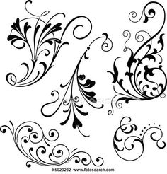 Line clipart filigree Vintage and available Music filigree