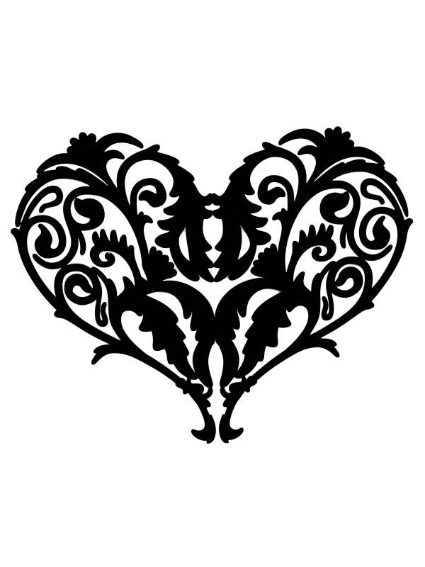 Line clipart filigree Filigree Heart and Art Filigree