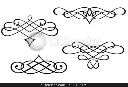 Line clipart filigree Filigree Filigree Clip swirl Monograms