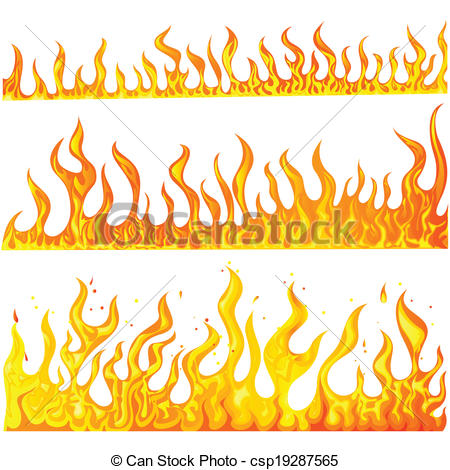 Lines clipart fire Illustration csp19287565 Vector Fire Flame