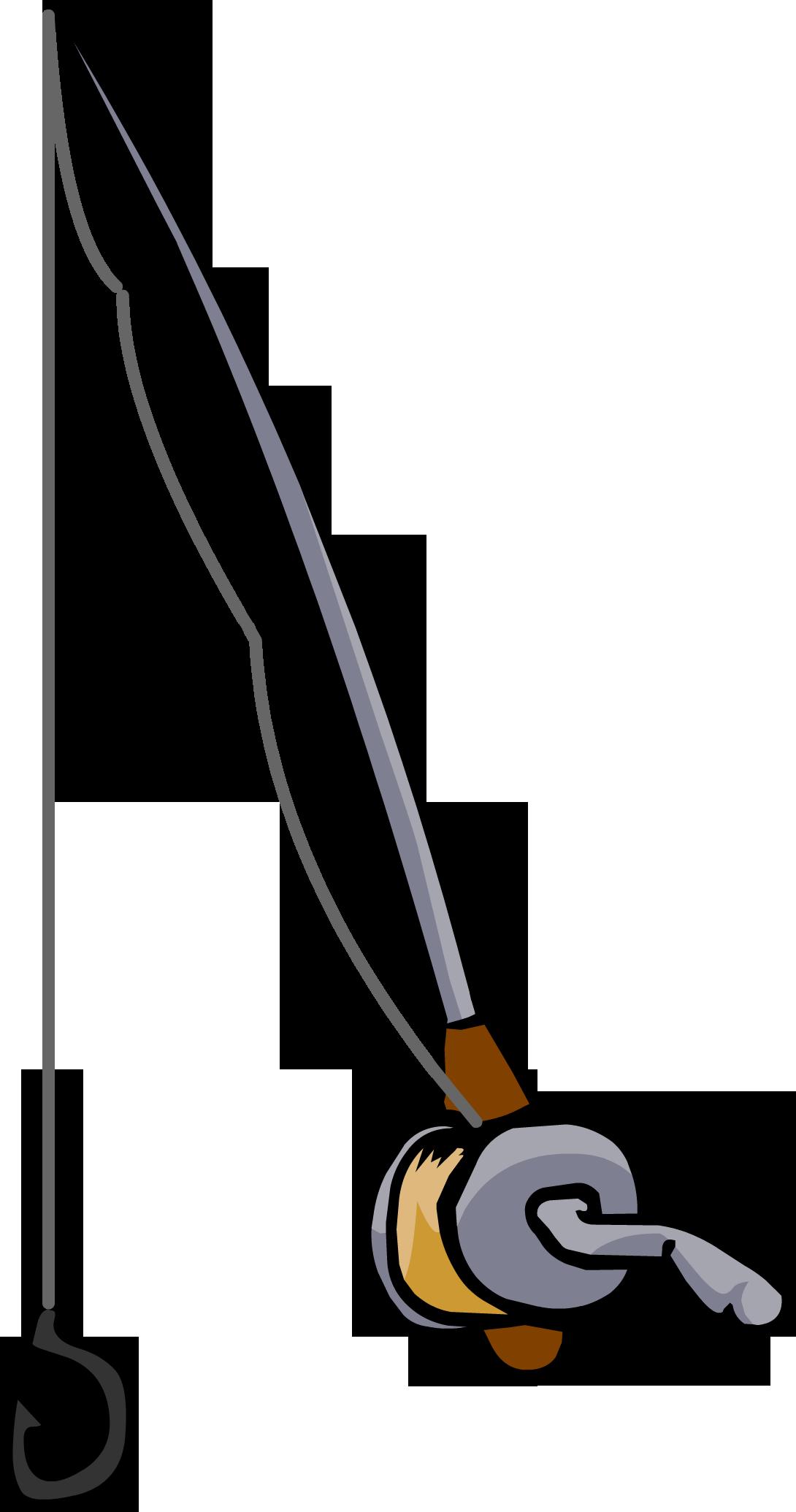 Lines clipart fishing pole Powered Penguin Club Fandom Fishing