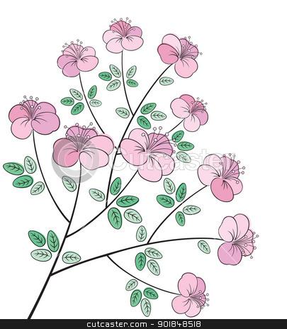 Line clipart floral Flower flower colorful line art