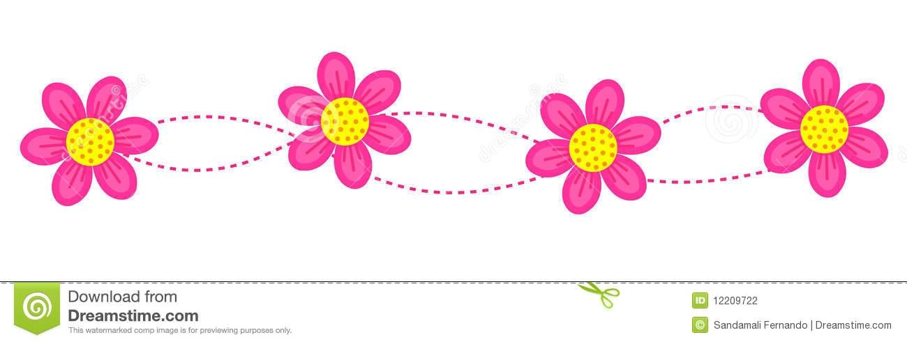 Line clipart floral Flower Flower Clipart Line com