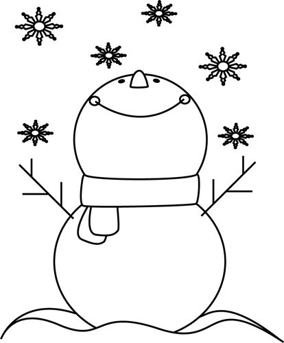 Line clipart graphic art Download Black snowflakes and and