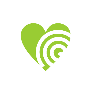 Line clipart green Green Heart of Black Background