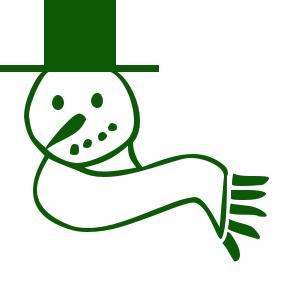 Line clipart green Clip public snowman christmas domain