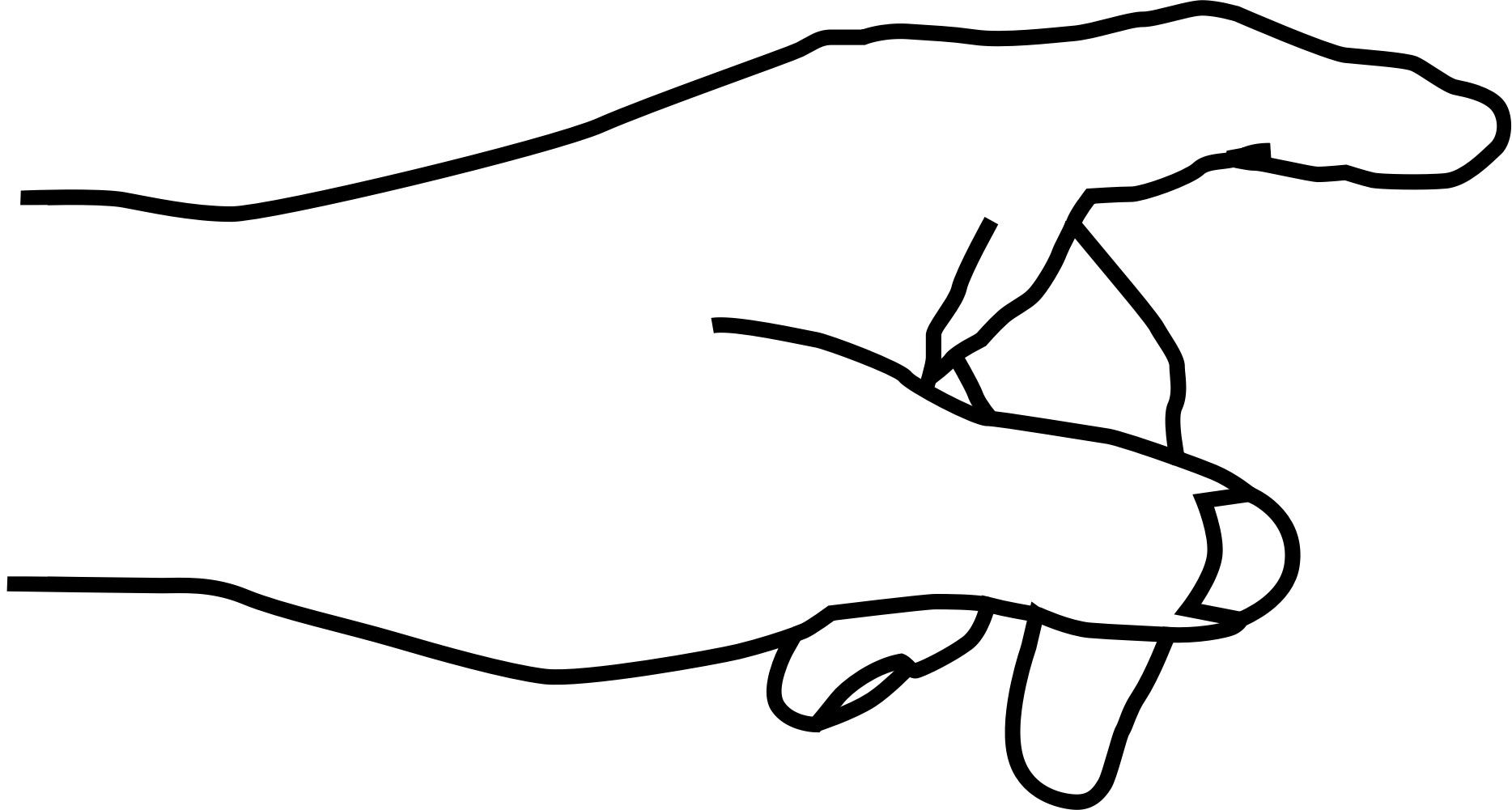 Lines clipart hand Hand Finger Clipart Hand Finger