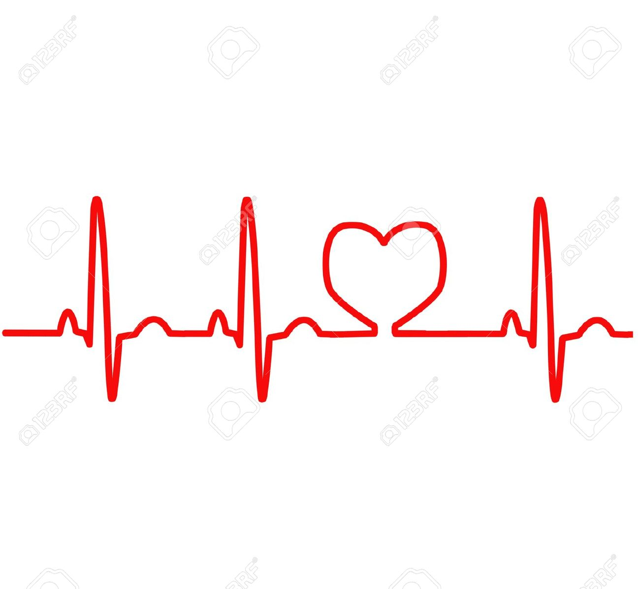 Love clipart heartbeat #7
