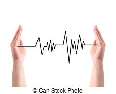 Line clipart heart rate #7