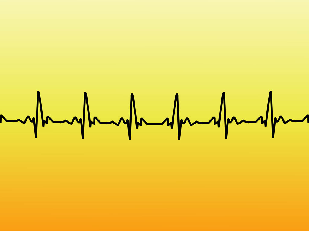 Line clipart heart rate #6