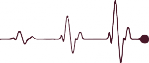 Line clipart heart rate #1