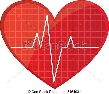 Line clipart heart rate #10