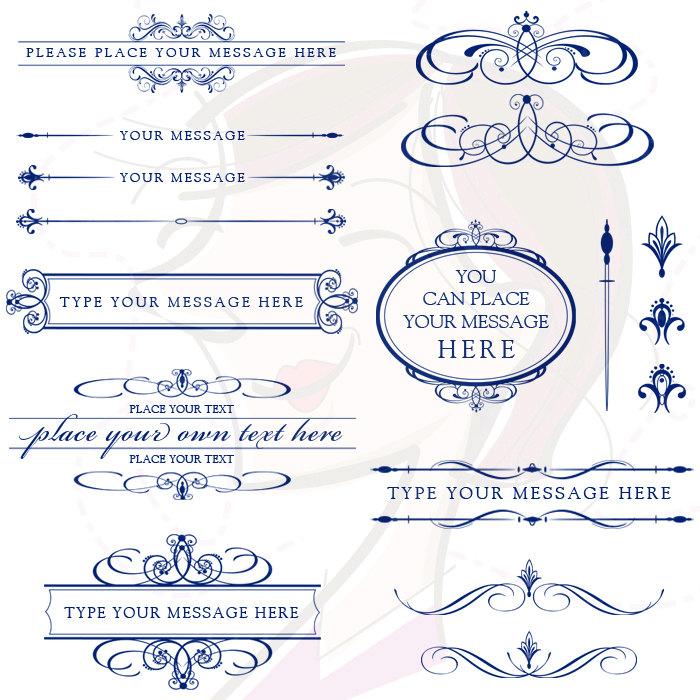 Lines clipart invitation design Art NAVY Clip BLUE Design