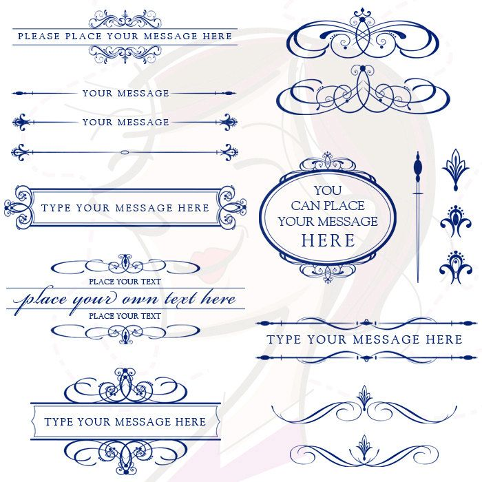 Lines clipart invitation design Art NAVY about BLUE Design