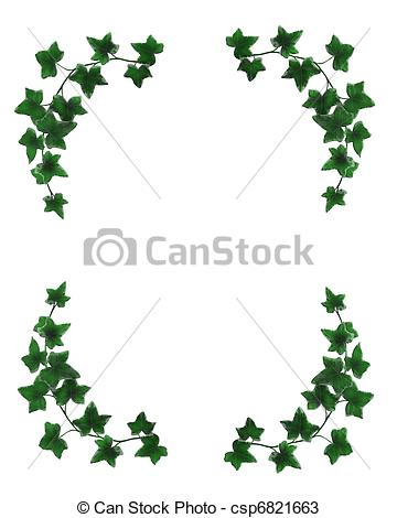 Lines clipart ivy Simple composition border of and