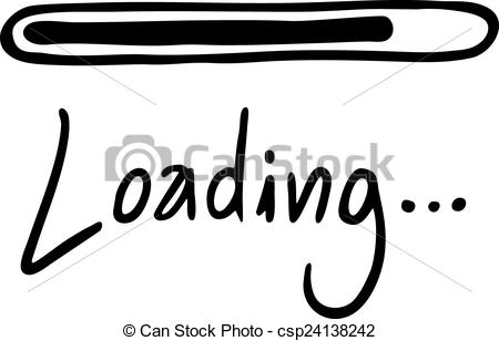 Line clipart loading  Loading Loading message message