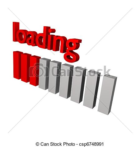 Line clipart loading In 3d loading red loading
