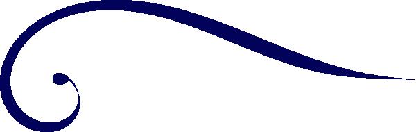 Dark Blue clipart swirl  vector Blue Art com