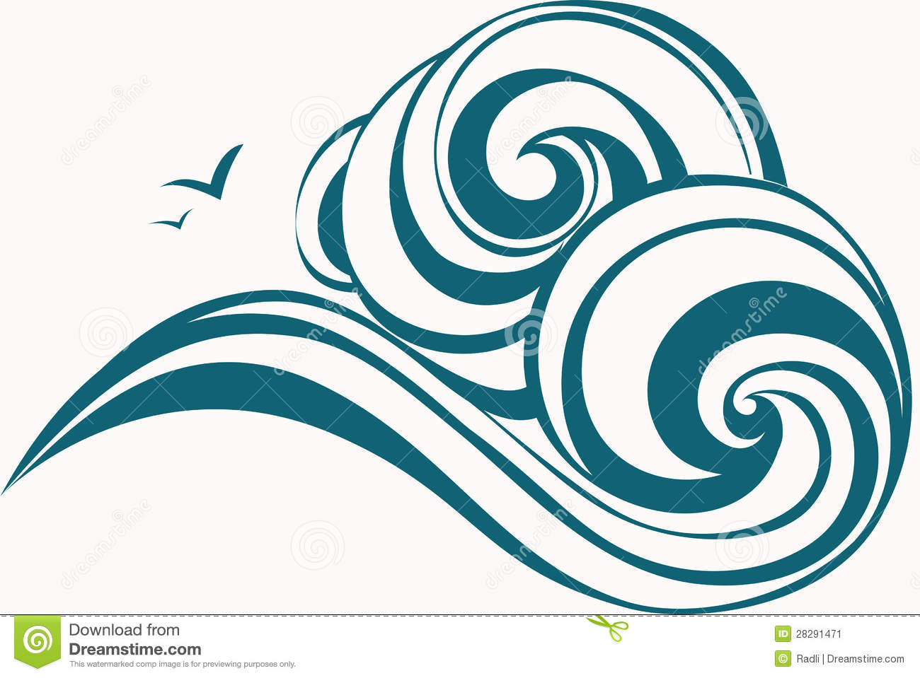 Drawn ocean simple Clipart Clipart Free Waves LAYOUT
