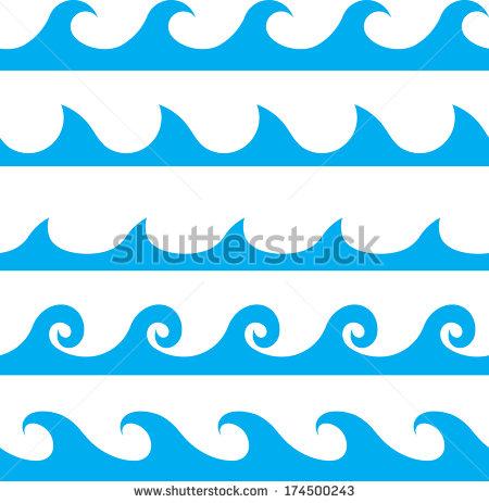 Weaves clipart wave pattern Wave blue vector  line