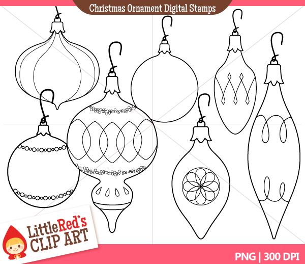 Line clipart ornament And – Ornament Christmas Happy