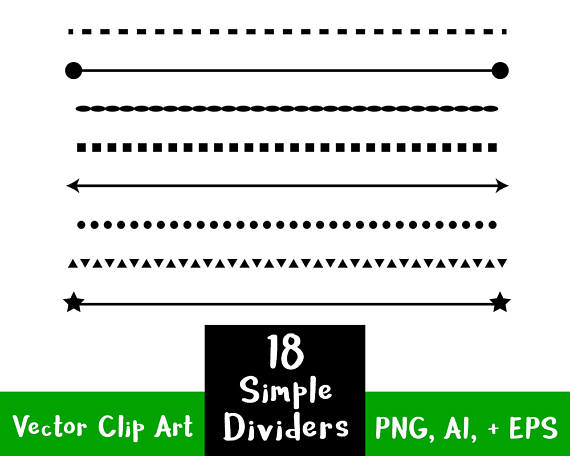 Line clipart page divider Clip Simple Simple Shape Page