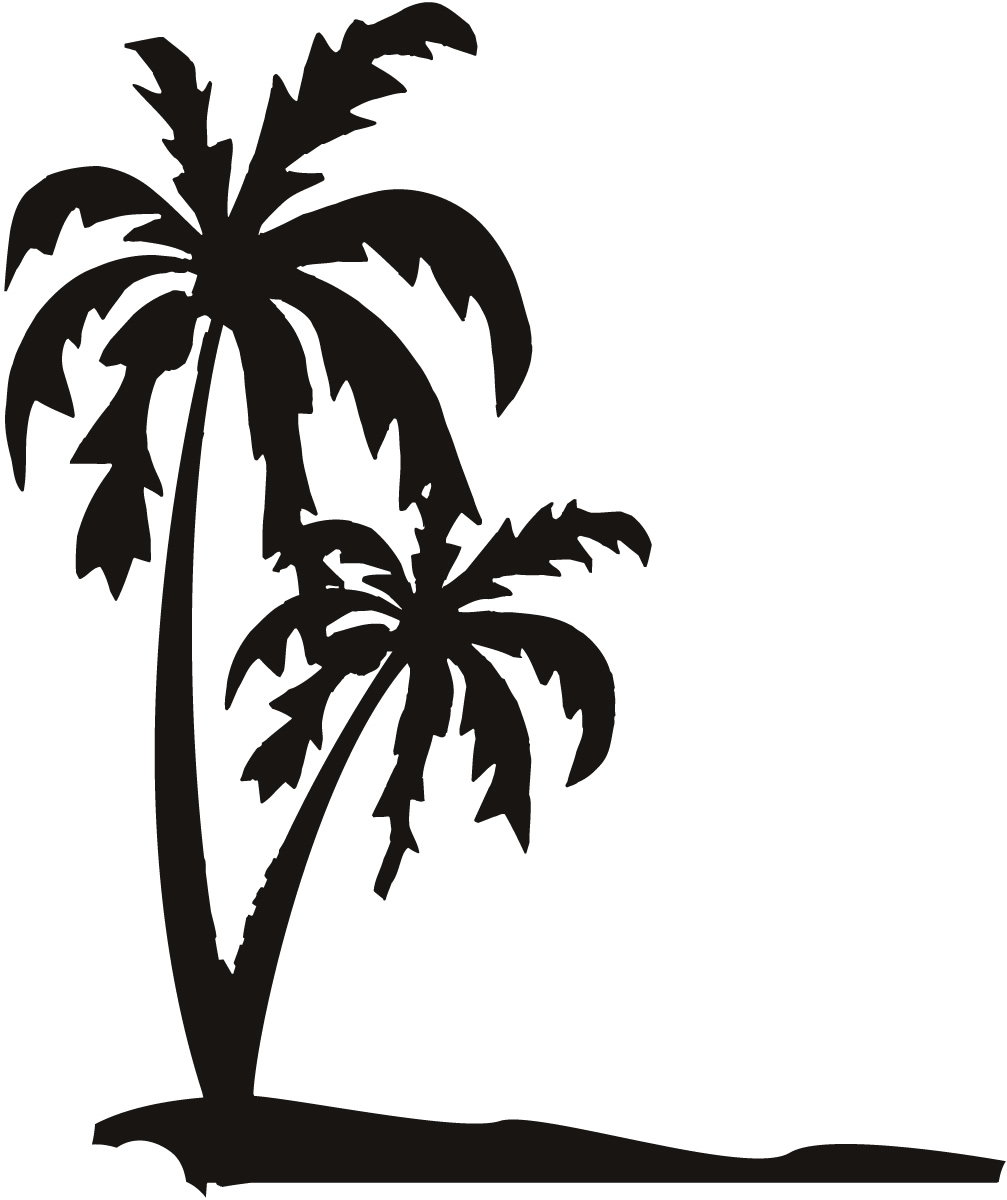 Line clipart palm tree Sand Trees  Clip Drawings
