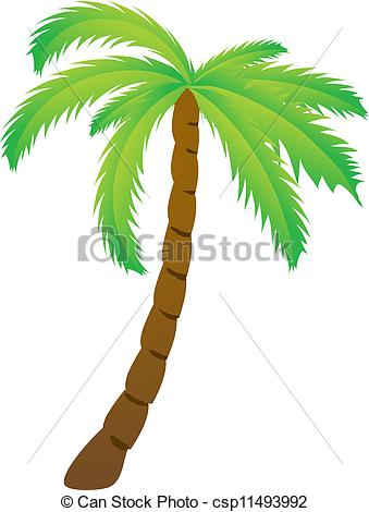 Line clipart palm tree Of tree isolated Palm tree