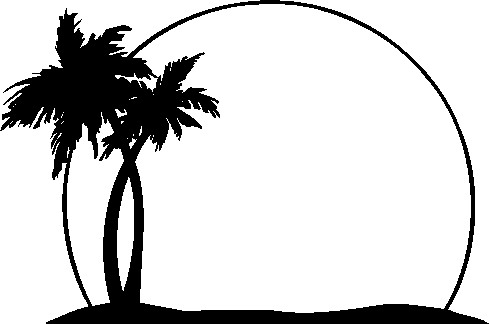 Tropical clipart black and white #1