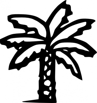 Lines clipart palm tree #7