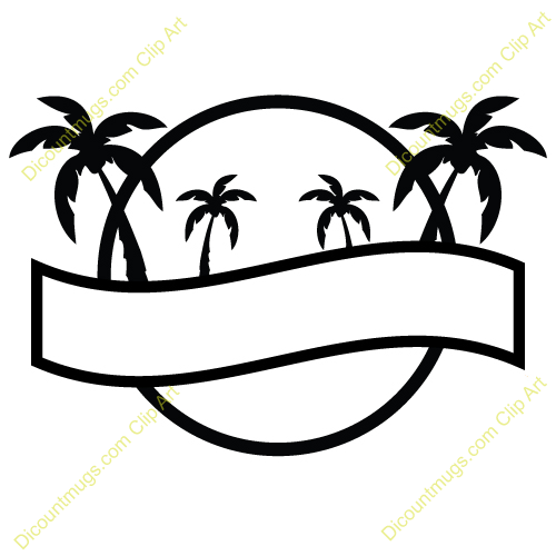 Lines clipart palm tree #9