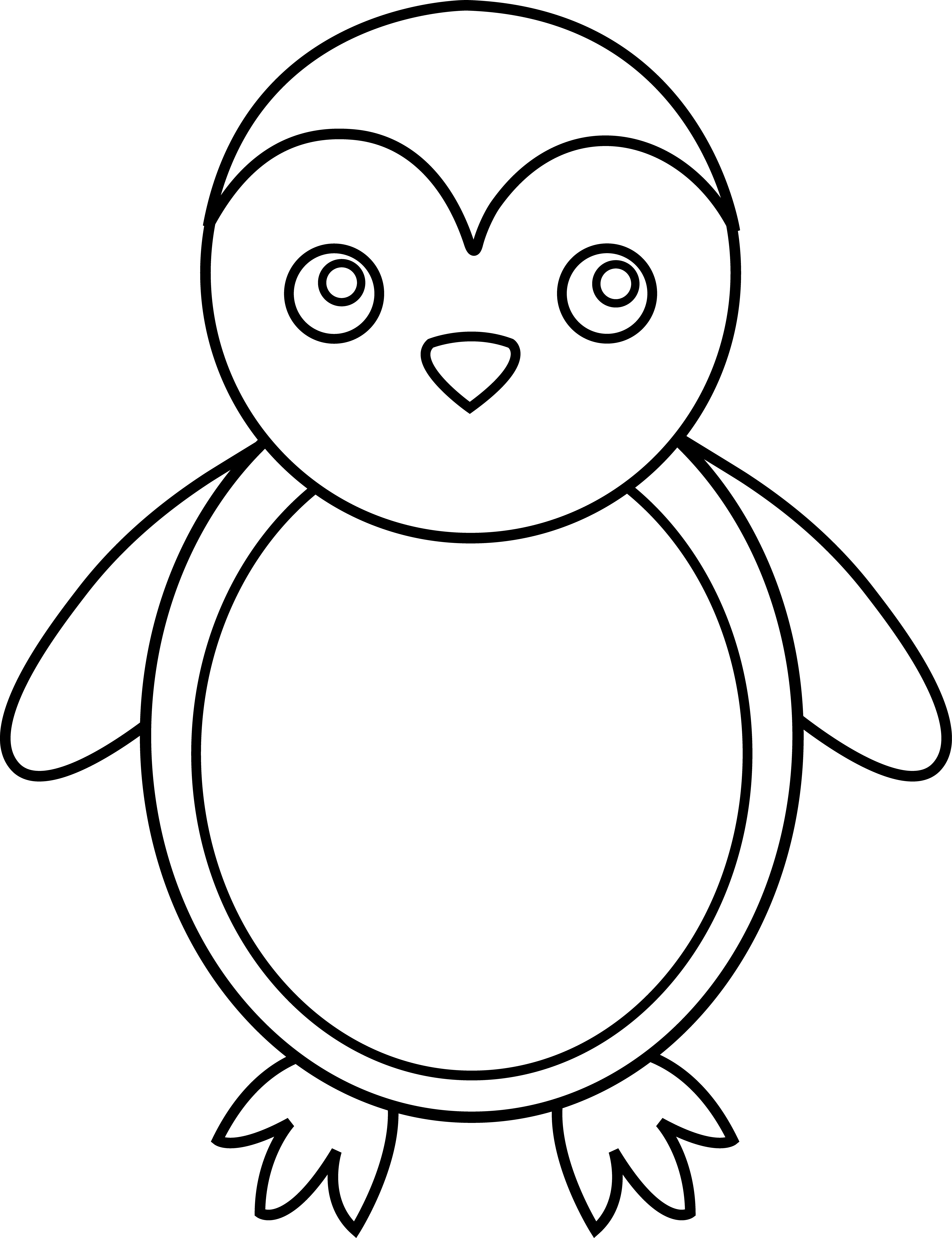 Simple clipart penguin Clipart Clip And Free Images