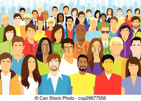 Line clipart person Crowd Vector Group Crowd Face