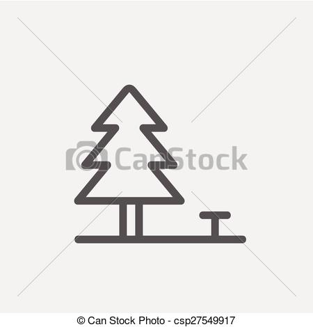 Line clipart pine tree Clip Pine icon tree Vector