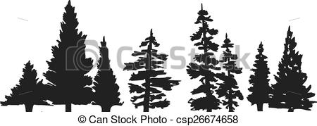 Line clipart pine tree Pine Pine Clipart Search of