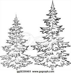 Line clipart pine tree Pine  Pine Clip Illustration