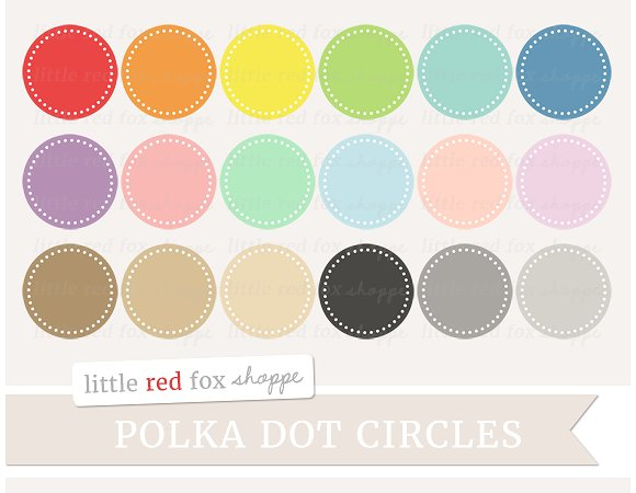 Lines clipart polka dot Creative Illustrations Illustrations Circle ~