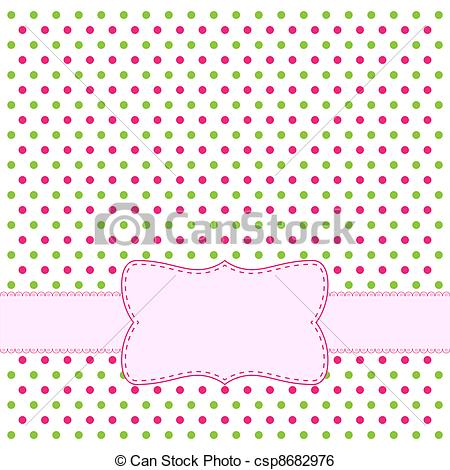Lines clipart polka dot Frame csp8682976 invitations dot Vector
