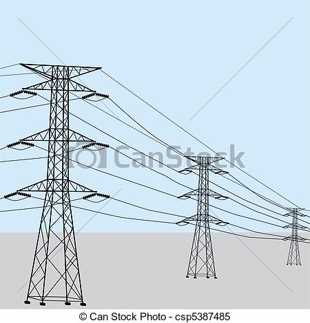 Line clipart power line Lines Free Art Power Download