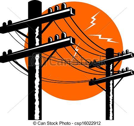 Line clipart power line Line retro Illustration in power
